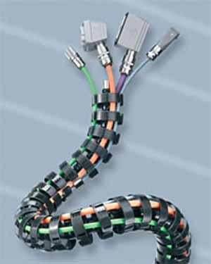 Cha nes porte c ble pour robots s rie robotrax - Chaine porte cable ...